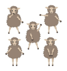 Sheep in various poses vector