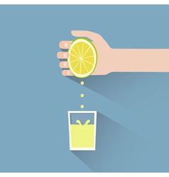 Lemon squeeze vector
