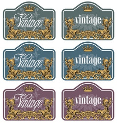 wine labels32 vector image