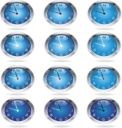 Metal clocks resize vector