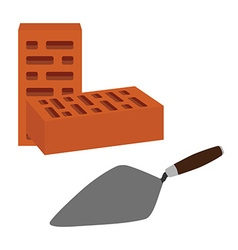 Brick and spatula vector