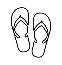 Flip flops isolated icon design vector