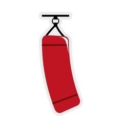 Boxing bag icon healthy lifestyle design vector