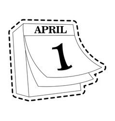 april 1 icon image vector image