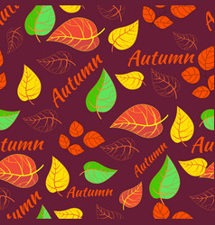 autumn pattern seamless background vector image vector image