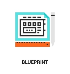 blueprint icon concept vector image