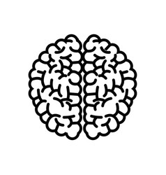 brain organ human intelligence concept outline vector image
