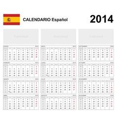Calendar 2014 Spain Type 19B vector image vector image