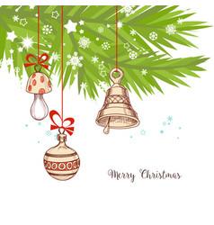 Christmas background pine tree vector