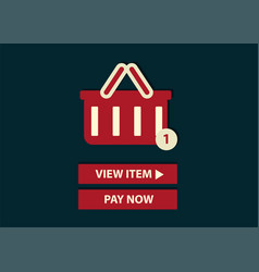concept of online shopping add to basket web vector image vector image