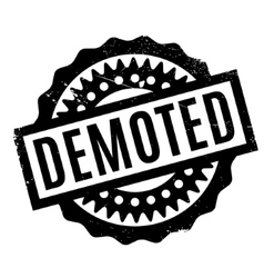 Demoted rubber stamp vector