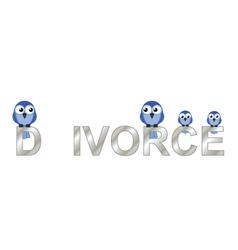 Divorce text vector image vector image