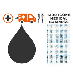 drop icon with 1300 medical business icons vector image vector image