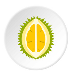 Durian icon circle vector