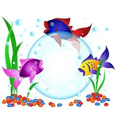 Fish advertisement vector
