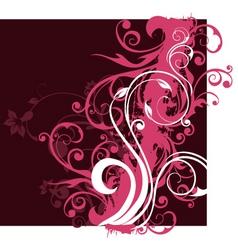 floral background design vector image