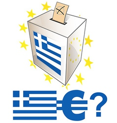 Greek election day vector