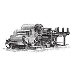 Lap machine vintage vector