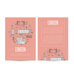 london city traveling advertising in linear style vector image vector image