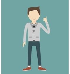 Man Showing Thumbs Up vector image vector image