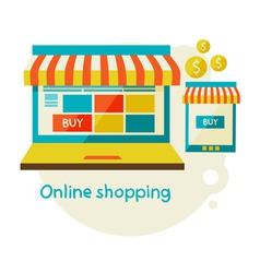 Online shopping vector