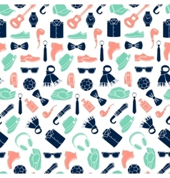 pattern of fashion accessories vector image vector image