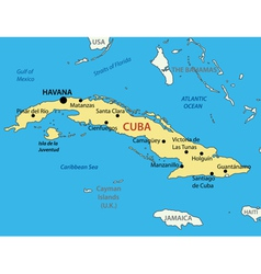 Republic of cuba - map vector