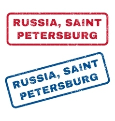 Russia saint petersburg rubber stamps vector