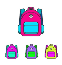 School bag Colorful school bag icon School bag vector image vector image