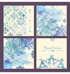 Set of holiday Christmas cards vector image vector image