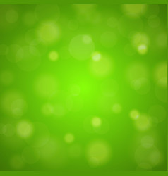Shiny bright green lights blurred background vector