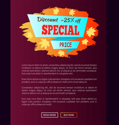 Special price autumn sale - 25 advert promo poster vector