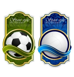 Sport label with balls vector image vector image