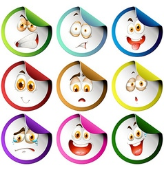 Stickers with facial expression vector image