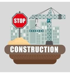 Under construction design vector image