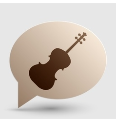 Violine sign Brown gradient icon on vector image vector image