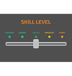 Skill levels vector image