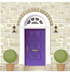 Entrance of house vector