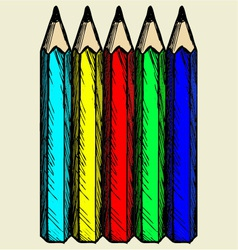 Colour pencils vector