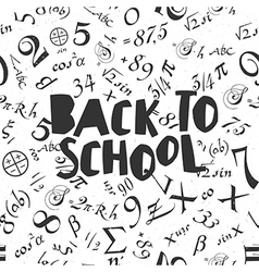 Back to school poster design with seamless numbers vector
