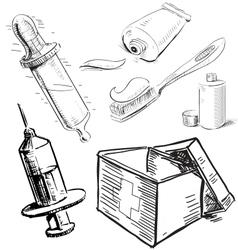 Medical stuff set vector image