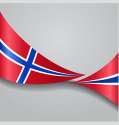 norwegian wavy flag vector image