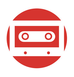 Retro cassette isolated icon vector