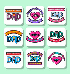 Fathers day icons 11 vector