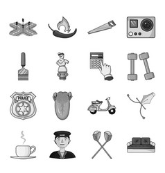Beret army putter and other web icon in vector