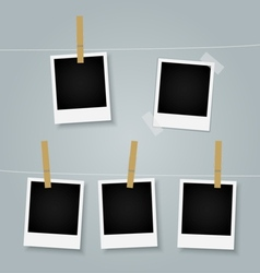 Polaroid picture frames vector