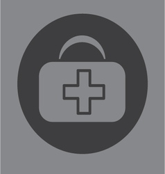 First aid bag icon symbol vector