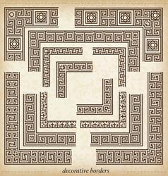 2930 maze cornerSeamless maze border Simple to use vector image