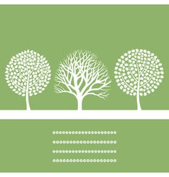 Three trees vector