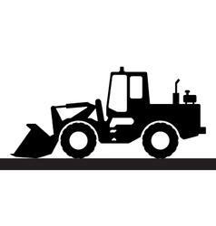 Silhouette the loader on a white background vector